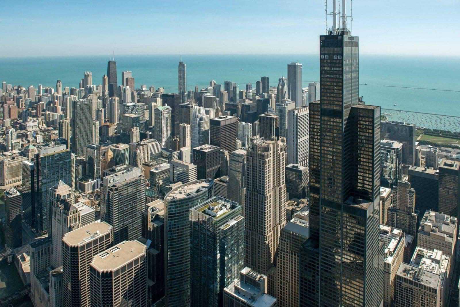 Widok na Chicago